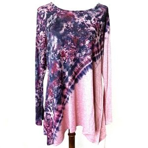 World Unity Tie Dye Long Sleeved Top XL NWT